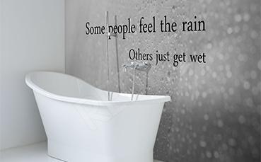 Naklejka napis do łazienki