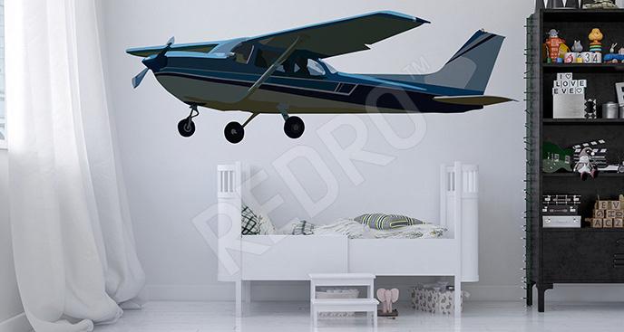 Naklejka niebieski samolot