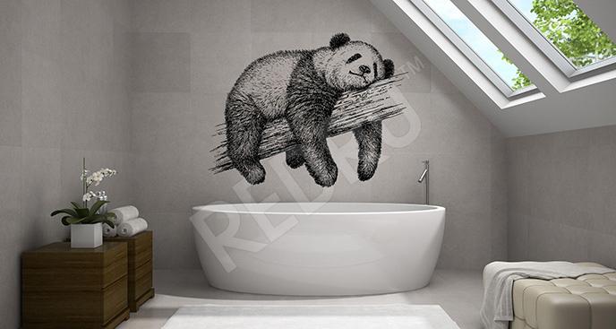 Naklejka niedźwiedź bambusowy