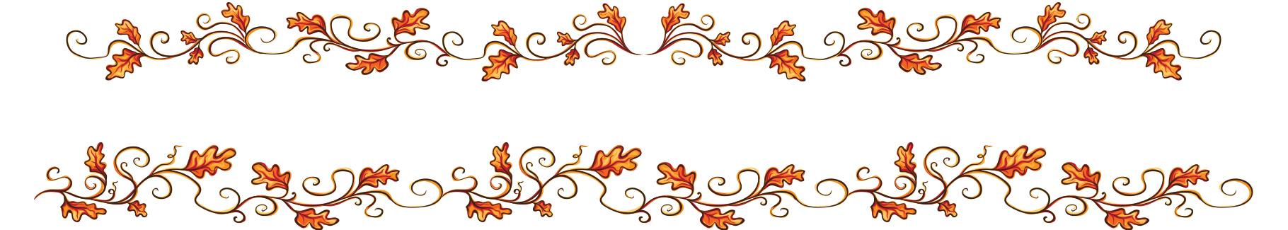Naklejka ornament jesienne liście