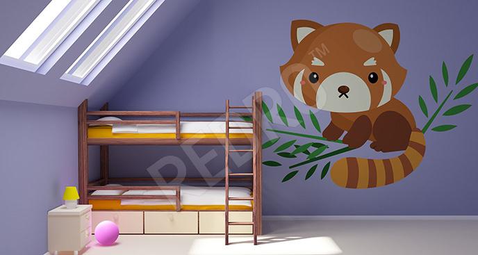 Naklejka panda ruda