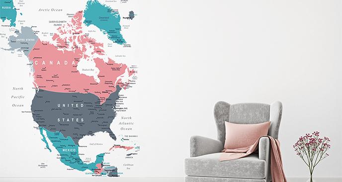 Naklejka państwa Ameryki Północnej