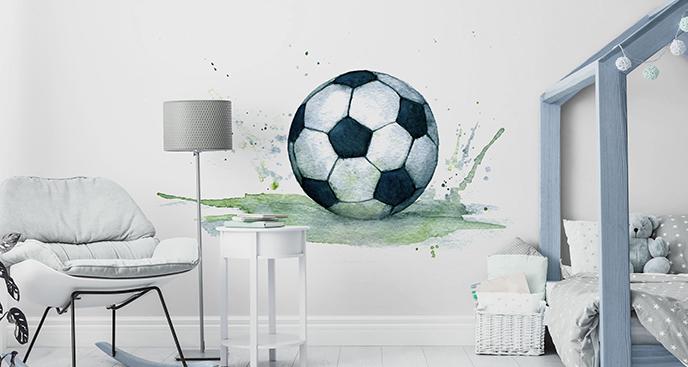 Naklejka piłka nożna w akwareli