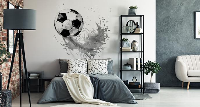 Naklejka piłka na murawie