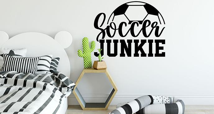Naklejka piłkarska z napisem