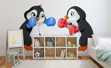 Naklejka pingwiny dla dzieci