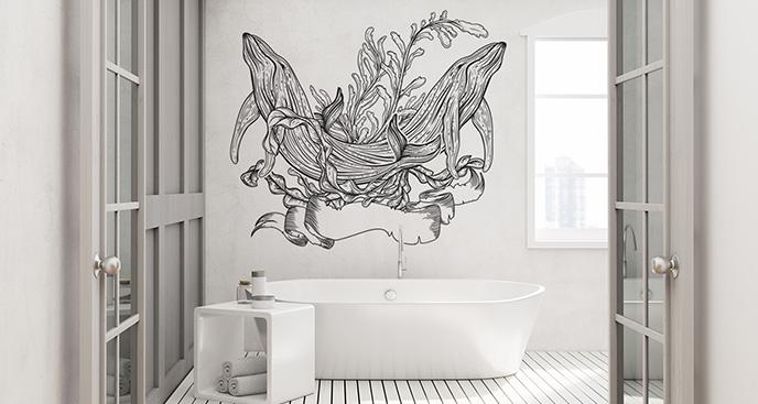 Naklejka podwodny świat do łazienki