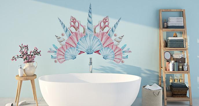 Naklejka podwodny świat: muszle