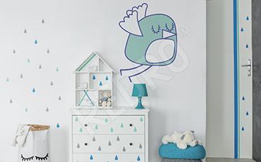 Naklejka ptak do dziecięcego pokoju