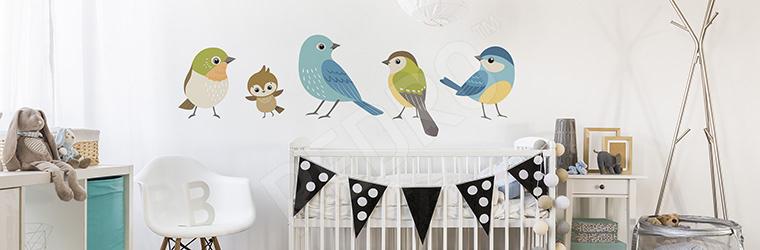 Naklejka ptaki do pokoju dziecka
