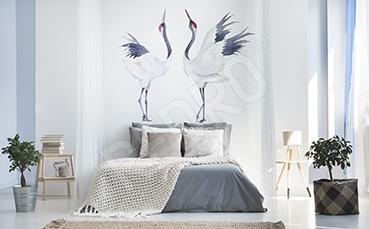 Naklejka ptaki: żurawie