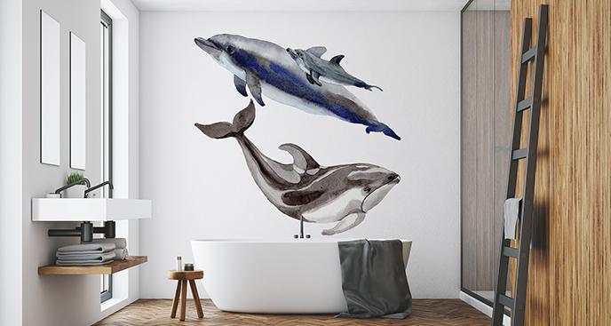 Naklejka rodzina morskich ssaków