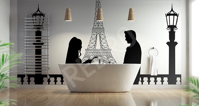 Naklejka romantyczny Paryż