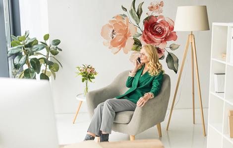 Naklejka róża do salonu