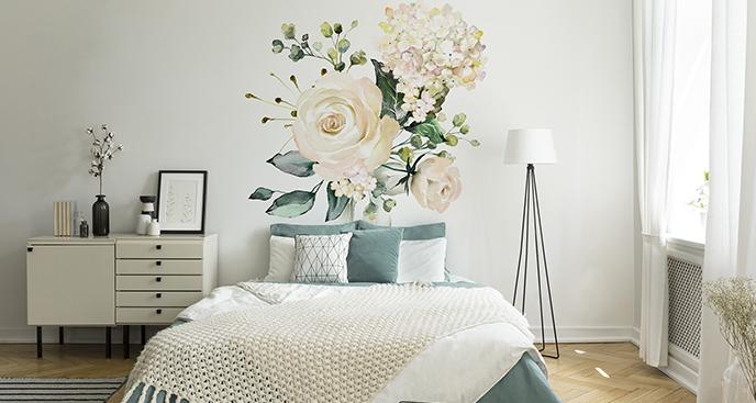 Naklejka róże białe