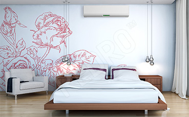 Naklejka róże do sypialni