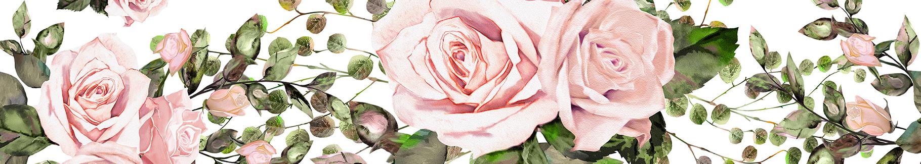 Naklejka róże malowane akwarelą