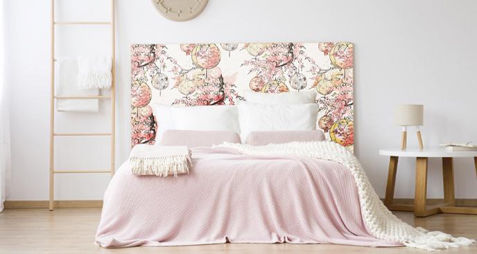 Naklejka różowe lampiony