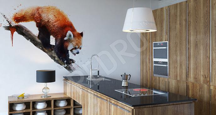 Naklejka ruda panda do kuchni