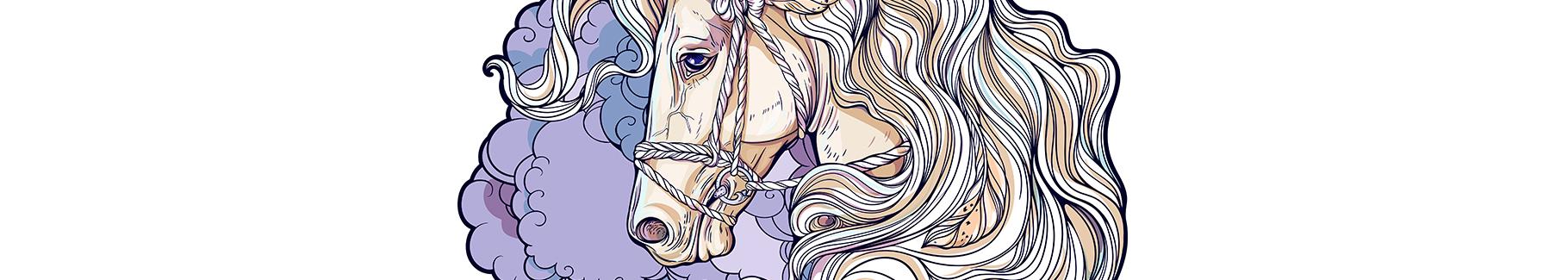Naklejka rysunek konia