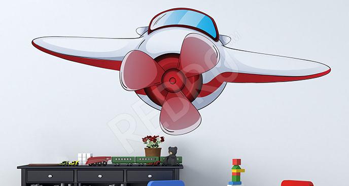 Naklejka samolot dla dzieci