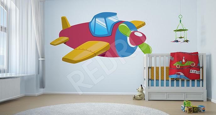 Naklejka samolot do pokoju dziecka