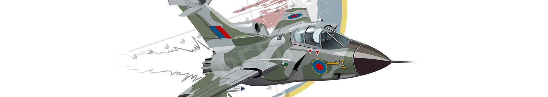 Naklejka samolot wojskowy