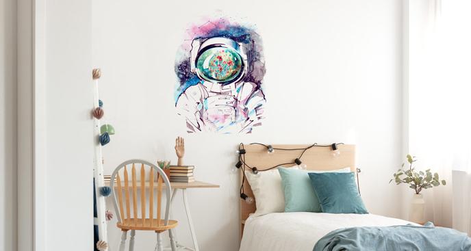 Naklejka ścienna astronauta