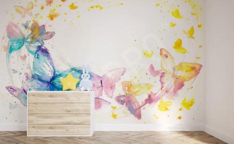 Naklejka ścienna kolorowe motyle