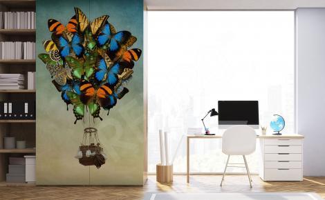 Naklejka ścienna motyle retro