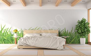 Naklejka ścienna trawa do sypialni
