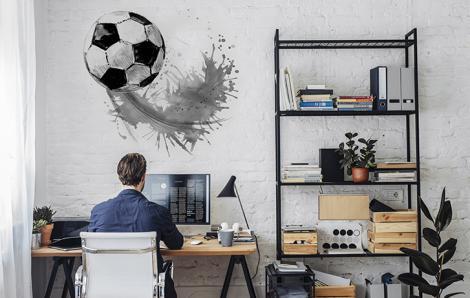 Naklejka ścienna z piłką nożną