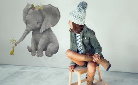Naklejka słoń do dziecięcego pokoju