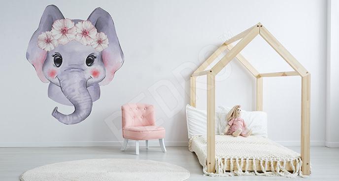 Naklejka słoń do pokoju dziecka