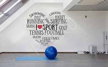 Naklejka sportowa typografia