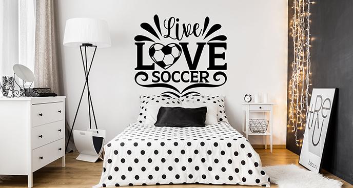 Naklejka piłkarska na ścianę dla dzieci
