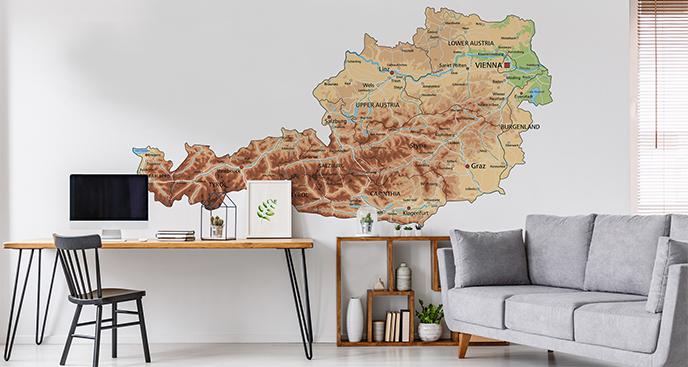 Naklejka stara mapa Austrii