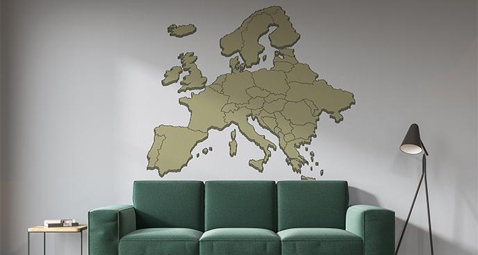 Naklejka stara mapa Europy