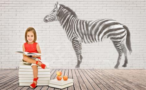Naklejka sylwetka zebry