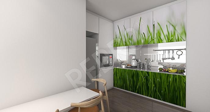 Naklejka trawa do kuchni