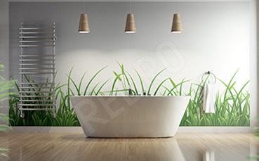 Naklejka trawa do łazienki