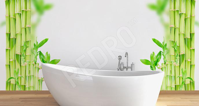 Naklejka tropikalna roślina