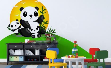 Naklejka trzy pandy