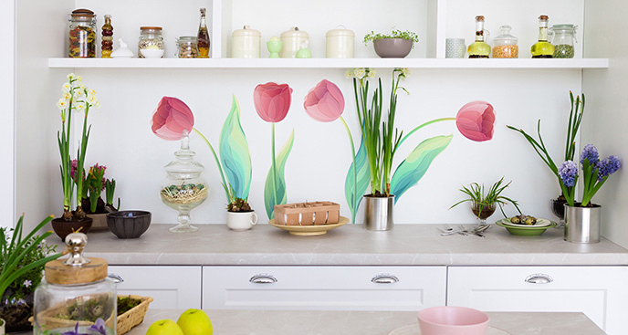 Naklejka tulipany do kuchni