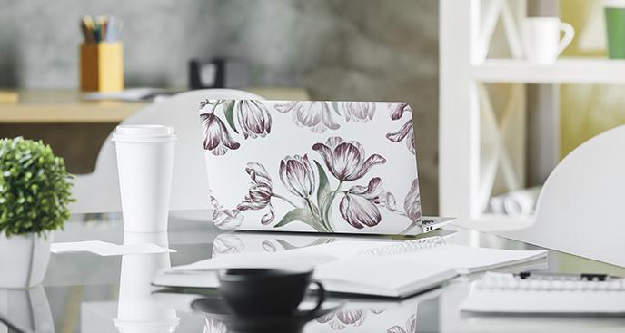 Naklejka tulipany na laptopa