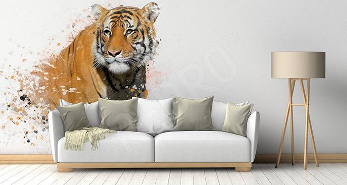 Naklejka tygrys do salonu
