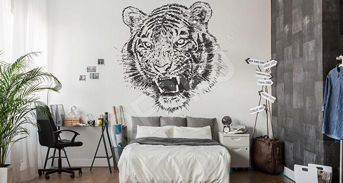 Naklejka tygrys do sypialni