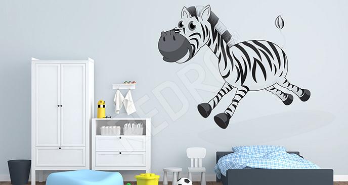 Naklejka uśmiechnięta zebra