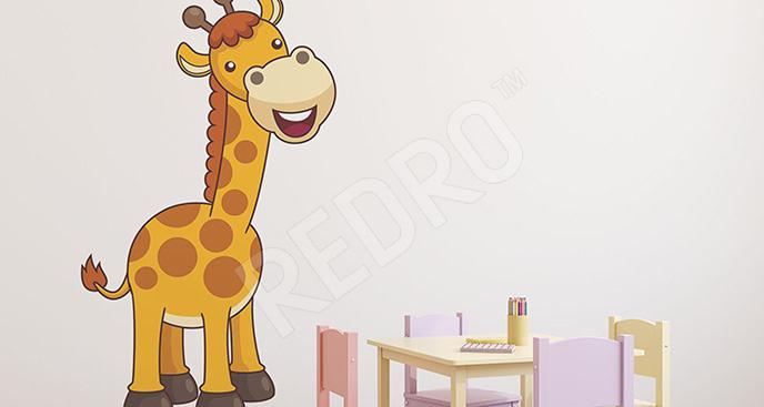 Naklejka uśmiechnięta żyrafa