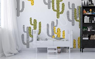Naklejka w meksykańskie kaktusy dla dzieci